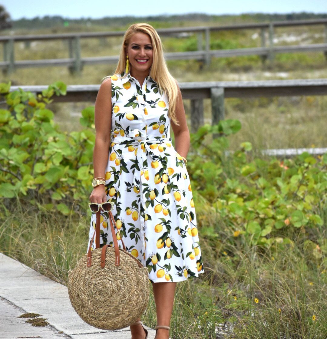 Brighten Up Your Summer Wardrobe with A Lemon Print Dress